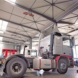 Отопление гаража грузовых транспортных средств