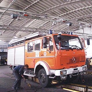 Отопление гаража пожарных машин