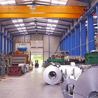 Отопление завода лучистыми панелями