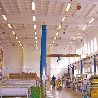 Отопление завода керамическими обогревателями