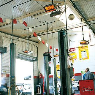 Отопление гаража легковых автомобилей